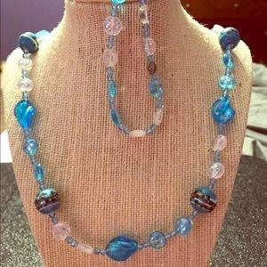 Swarovski Crystal and Glass Bead Jewelry Set
